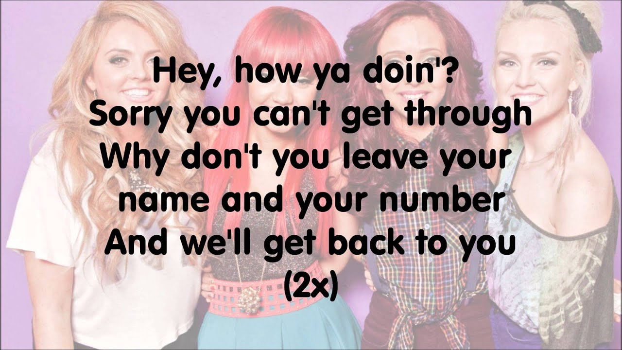 Little Mix - How Ya Doin' (Acoustic Lyrics) - YouTube