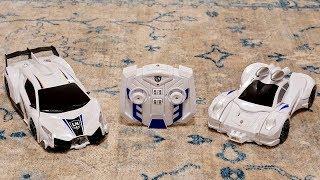 Xe Ô Tô Biến Hình Robot Transformer, xe ô tô robot điều khiển từ xa Mã A14 Pikalong TV