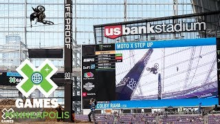 Colby Raha jumps 41 feet to win Moto X Step Up bronze   X Games Minneapolis 2018