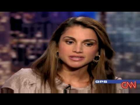 HM Queen Rania interview with CNN. Part 1 0f 2