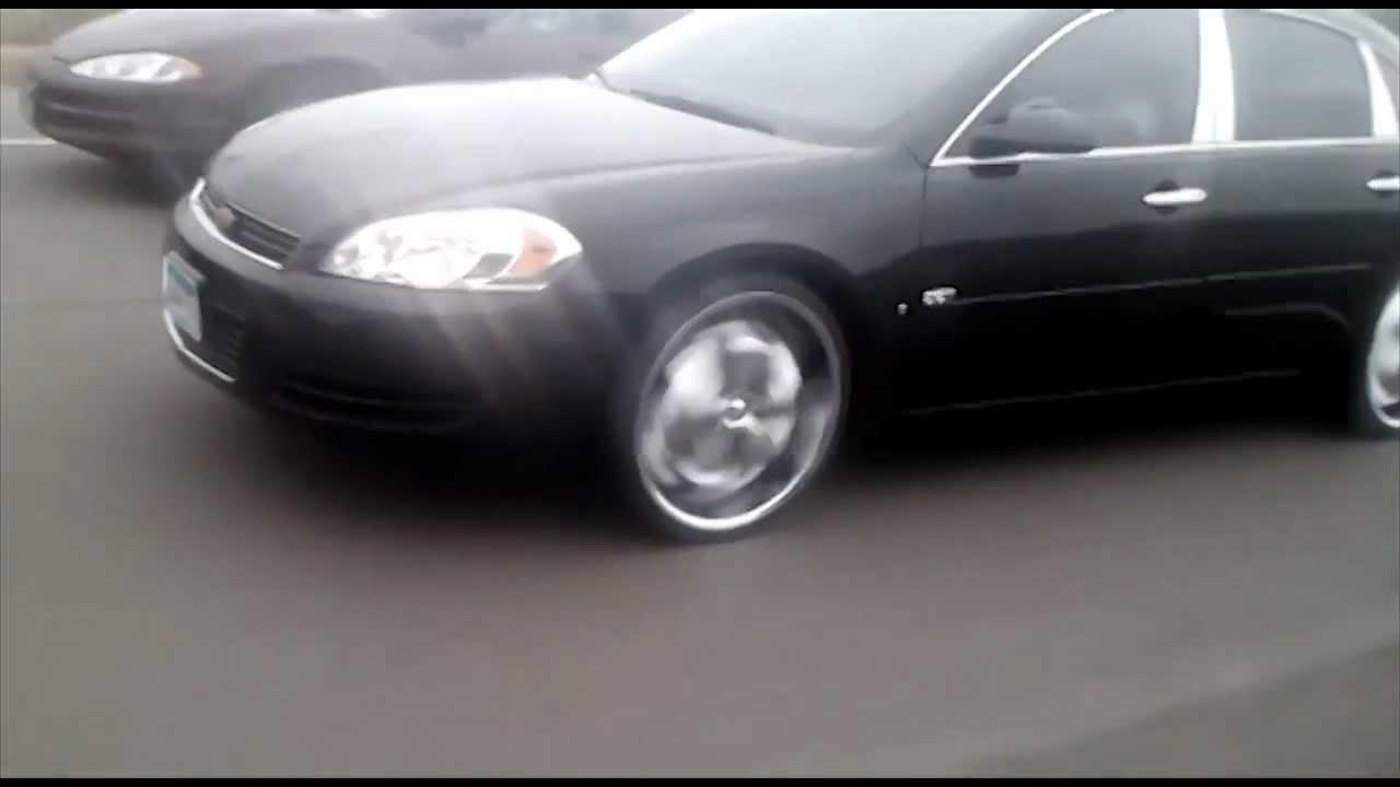 breakin 39 neckz car club 2007 chevy impala lt on 22 chubbys youtube. Black Bedroom Furniture Sets. Home Design Ideas