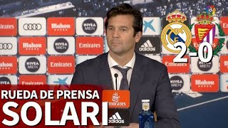 Real Madrid 2 Valladolid 0 | Rueda de prensa de Solari | Diario AS