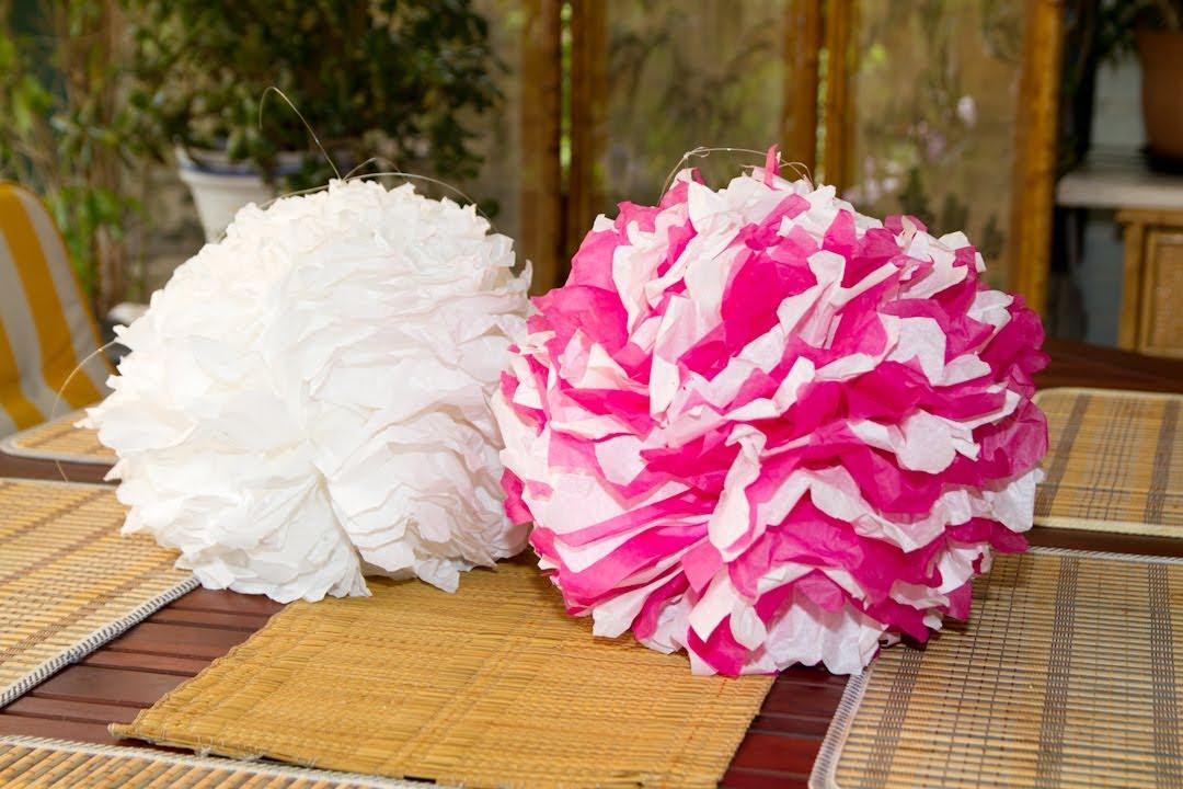 Pompon de papel de seda o tis youtube - Como hacer bolas para decorar ...