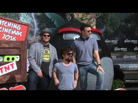 Angry Birds: Cancun Photocall - Actors Josh Gad, Peter Dinklage, Jason Sudeikis