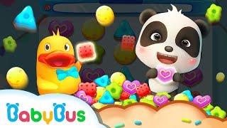 Help Panda Kiki Get the Cookies | Cookie Crush | Educational Games for kids | BabyBus