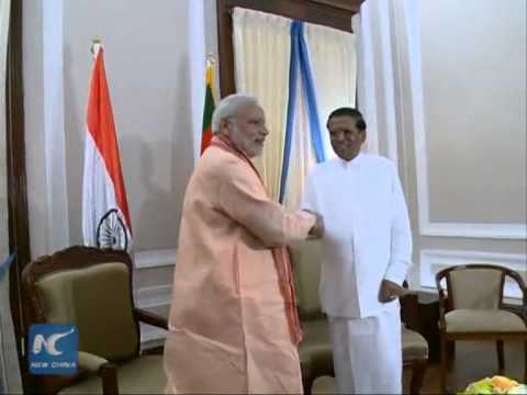 Indian Prime Minister Narendra Modi visits Sri Lanka