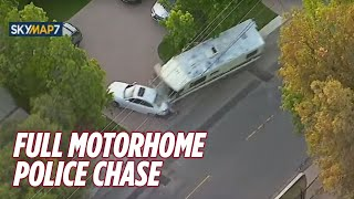 RAW: Police Chase Stolen Motorhome in Los Angeles [FULL VIDEO]
