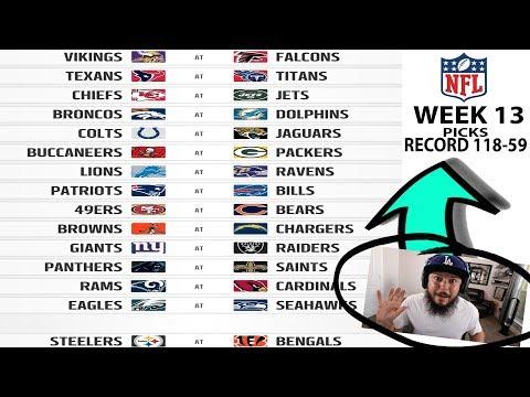 2017 NFL WEEK 13 PICKS!! MUST WIN GAMES FOR TEAMS THIS WEEK
