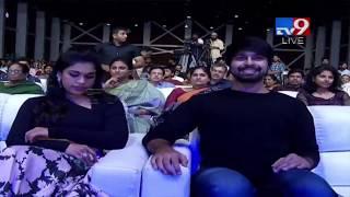 Sreeja and Kalyan Dev entry at Vijetha Audio Launch  - netivaarthalu.com