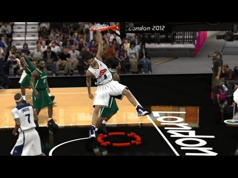 FIBA 2K12 London Olympics - 156 Points? USA vs. Nigeria