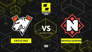 Virtus.pro vs Nemiga Gaming, Лига Париматч, bo3, game 2 [Maelstorm & Jam]