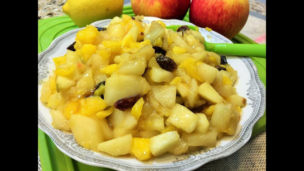 Как сделать начинку для пирога из яблок свежих