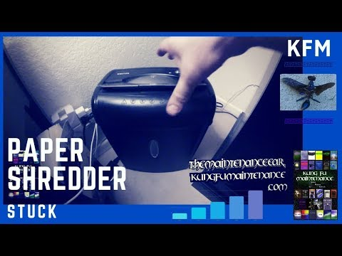 How To Fix Paper Shredder Jam Video