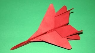 Origami  F15 Paper Airplan - How To Make An Origami F15 Paper Airplan