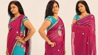 Party Style Saree Draping | How to Wear Party Style Saree | Look Slim & Tall | Step By Step Tutorial