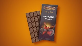 Chocolate Bar Packaging Design - Photoshop Tutorial