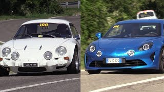 Alpine A110 New & Old - Hillclimb action & sound @ Vernasca Silver Flag 2018