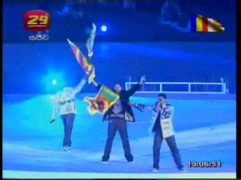 Iraj And Bns Performing Lion Nation On Cricket World Cup Opening Ceremony.avi video