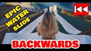 People are Awesome - Super Water Slide - BACKWARDS | Интересное видео