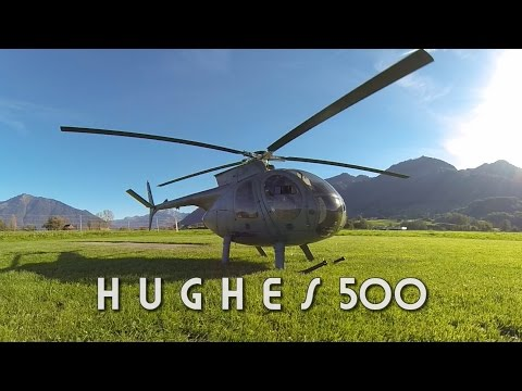 Hughes 500, a turbine-powered helicopter