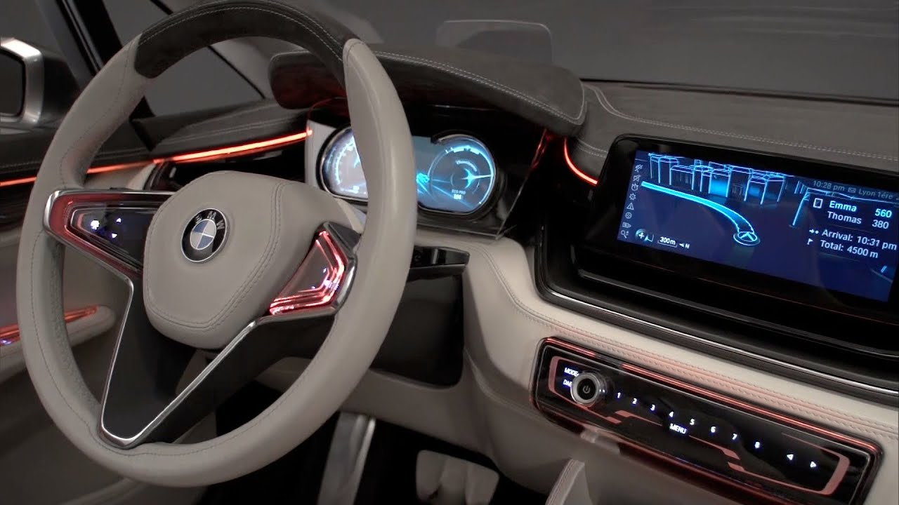 Bmw Concept Active Tourer Interior Youtube