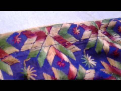 Punjabi phulkari dupatta royal blue colour