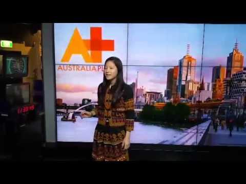 Yen Yi Wu, IFLC student from Taiwan is at ABC studios