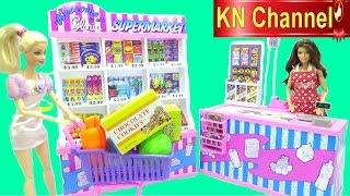 Đồ chơi trẻ em SIÊU THỊ BÚP BÊ BARBIE SUPERMARKET FOR DOLL Kids toys review