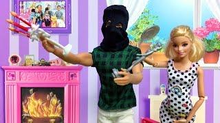 Barbie ve Ailesi Bölüm 102 - Eve giren kim? - Çizgi film tadında Barbie oyunları ve filmleri