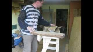 My Homemade chainsaw mill.AVI