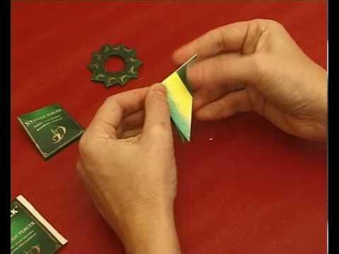 Ünnepi szalvétagyűrű készítés, origami