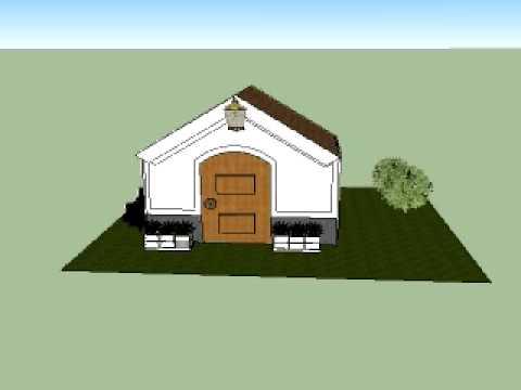Casa con techo a dos aguas 2 youtube for Frentes de casas sencillas