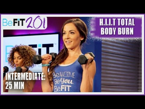 BeFiT 201: 25 Min HIIT Total Body Burn Workout | Intermediate- Courtney Prather