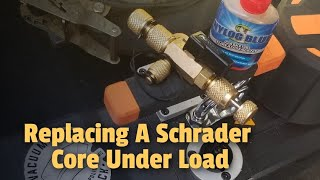 HVAC - Replacing A Schrader Core Under Load