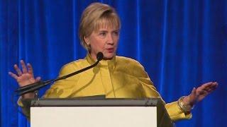 Clinton slams Trump on LGBT rights