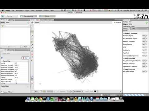 Gephi Streaming: Avengers Comic Book Artist Collaboration Graph