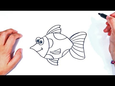 How to draw a Fish Step by Step | Drawings Tutorials