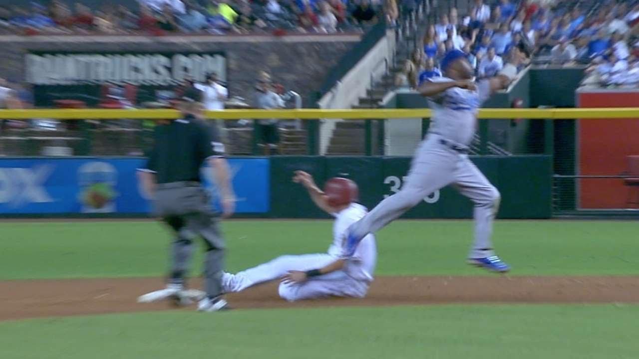 LAD@ARI: D-backs tally six stolen bases vs. Dodgers
