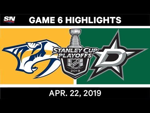 NHL Highlights   Predators Vs. Stars, Game 6 - April 22, 2019
