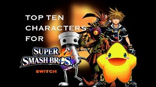 Top 10 Characters for Super Smash Bros. Switch