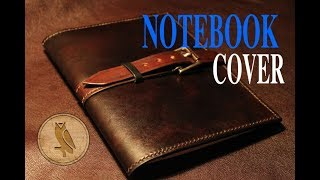 Making a leather notebook cover
