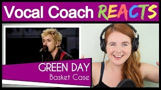 Vocal Coach reacts to Green Day - Basket Case (Billie Joe Armstrong Live)