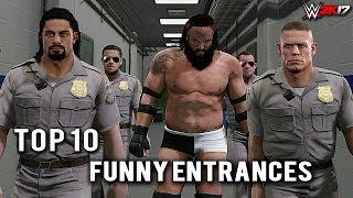 "WWE 2K17 - Top 10 Craziest Funny Entrances ""GIMMICK SWAP"" Reigns, Strowman,  & More! (PS4 & XB1)"