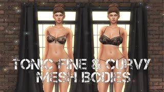 Tonic Fine and Curvy Mesh Bodies in Second Life