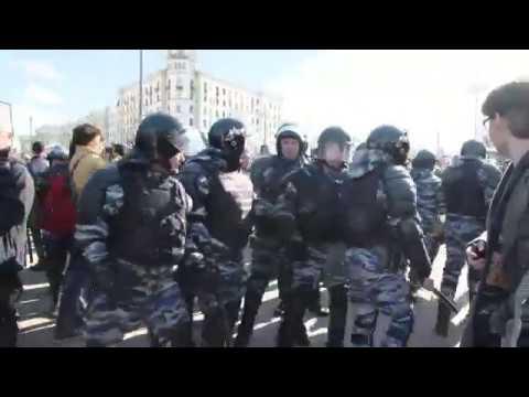А в Москве прошла многотысячная антикоррупционная акция протеста