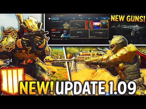 BLACK OPS 4 UPDATE 1.09! NEW DLC Weapons, Maps, Mastercraft Weapons, Camos & MASSIVE Game Changes!