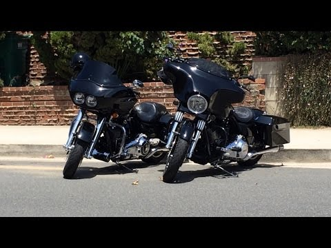 Difference Between Street Glide And Road Glide >> Harley Road Glide vs Street Glide - YouTube