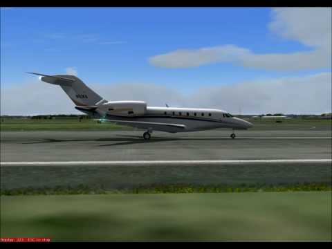 Citation X landing in PVD (Microsft Flightsim 9) (Wilco)