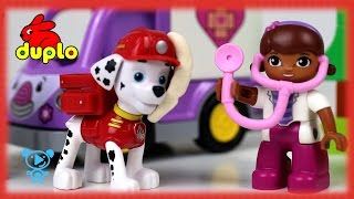 Paw Patrol Video & Lego Duplo Doc McStuffins - #PawPatrol Toys need help lego video for children 4k