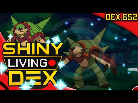 SHINY CHESNAUGHT! Quilladin Live Reaction! Quest For Shiny Living Dex #652   Pokemon XY!